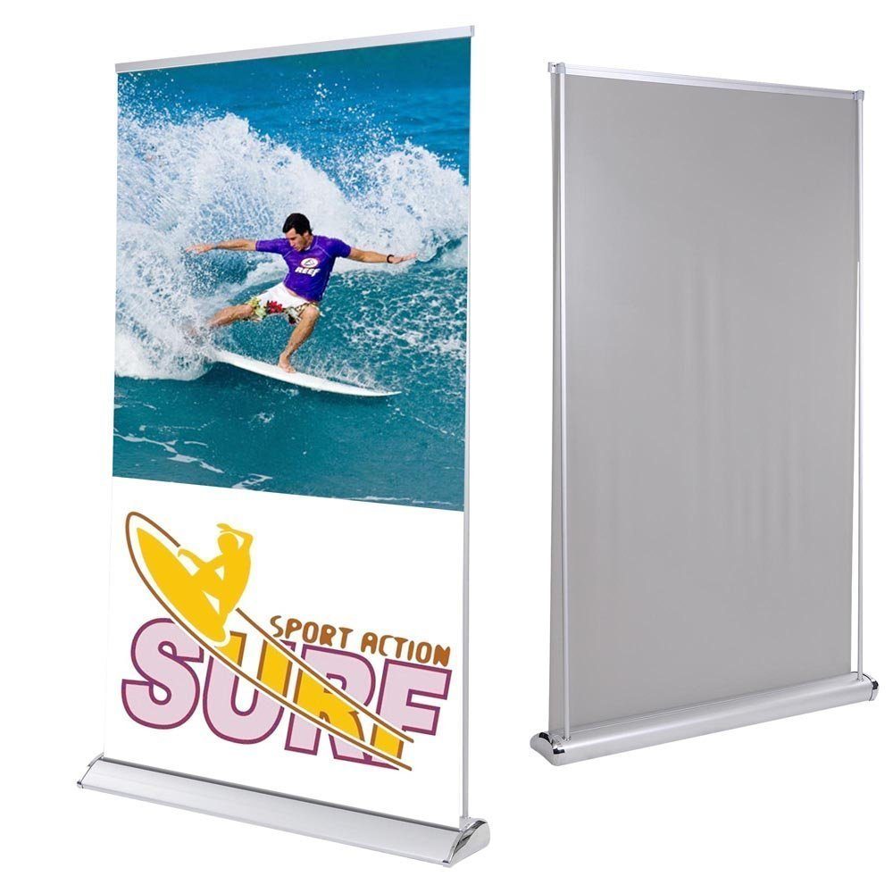 TRIPREL INC. LIght Weight 47'' x 78'' Retractable Roll Up Screen Banner Stand for Convention Trade Show Promotional Display