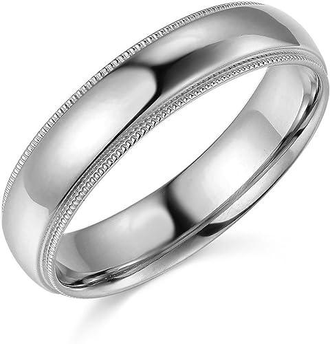 Size 11 14k Solid Yellow Gold Milgrain Comfort Wedding Ring Band 4MM
