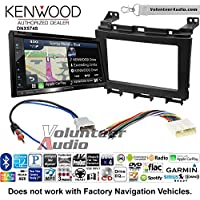 Volunteer Audio Kenwood DNX574S Double Din Radio Install Kit with GPS Navigation Apple CarPlay Android Auto Fits 2009-2016 Nissan Maxima