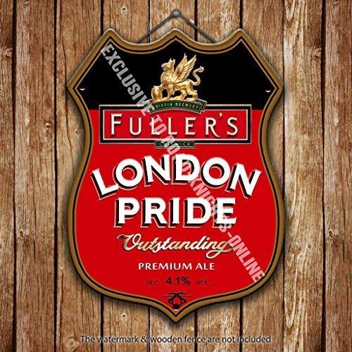 Fuller's London Pride Beer Advertising Bar Old Pub Drink Pump Badge Brewery MetalWall Sign by Alma (Best Breweries In London)