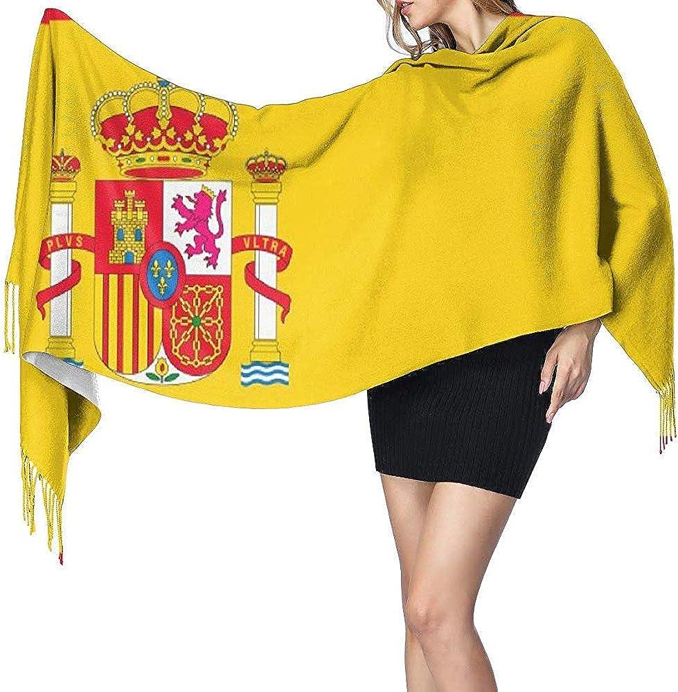 Bandera de España Chal largo para mujer Bufanda grande cálida de ...