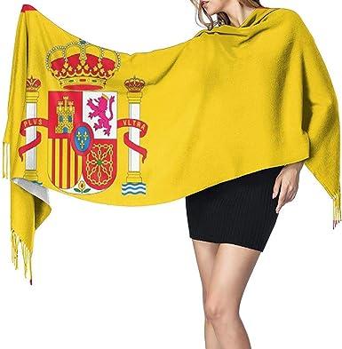 Bandera de España Chal largo para mujer Bufanda grande cálida de invierno Bufanda de cachemira: Amazon.es: Ropa y accesorios