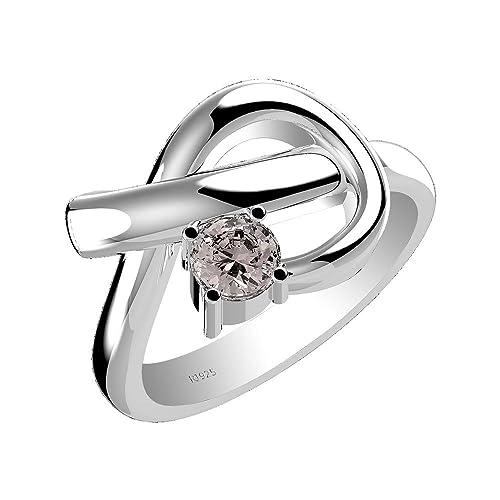 0.60ct Genuine Tanzanite Aquamarine Morganite Moldavite 925 Sterling Silver Ring