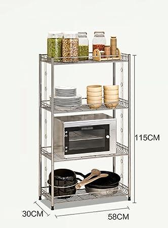 YZWJ DFHHG Estantería Cocina de Acero Inoxidable Simple ...