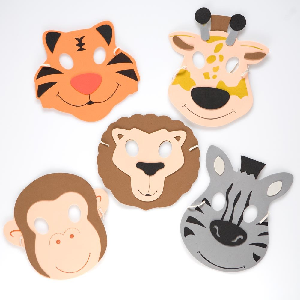 Rhode Island Novelty FBA COFOZOO Zoo Animal Foam Masks