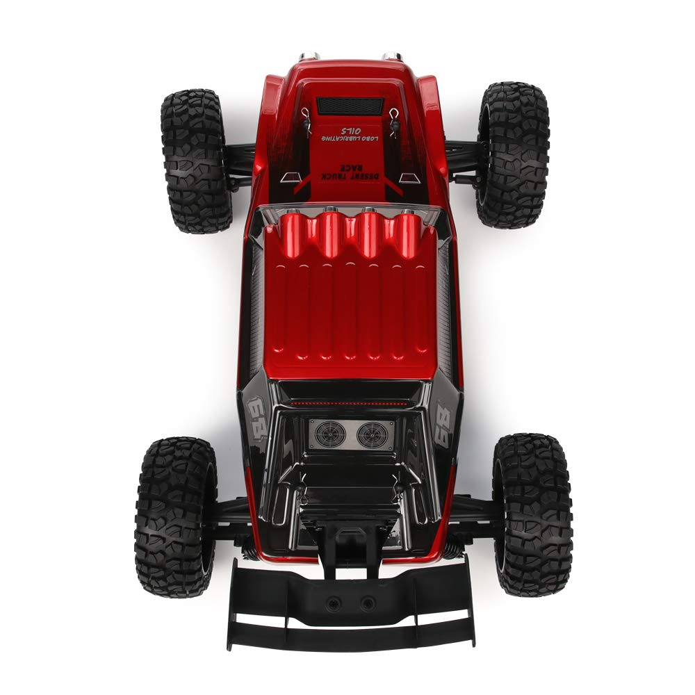 Oil Filled Dampers Waterproof Remote Controlled All Terrain Trucks RTR with Rechargeable Battery RC Cars Dune Thunder 2.4 GHz 4WD 1//12 Scale Desert Buggy 25 Mph High Speed with LED Lights