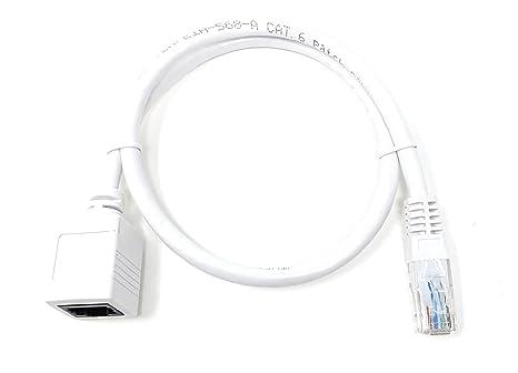 Maincore 50cm Long Cat6 Ethernet Rj45 To Rj45 Socket Amazon Co Uk