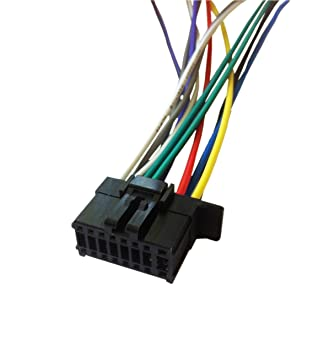 Amazon.com: PIONEER AVH-X2800BS Player Wiring Harness Plug ... on stereo amp wiring, subwoofer wiring, kenwood stereo wiring, dvd player wiring,