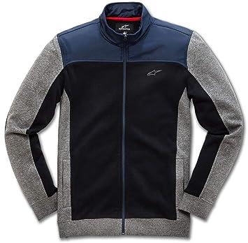 Alpinestar Speed Fleece Chaqueta vellón híbrido con Cuello Alto, Hombre, Black, XXL