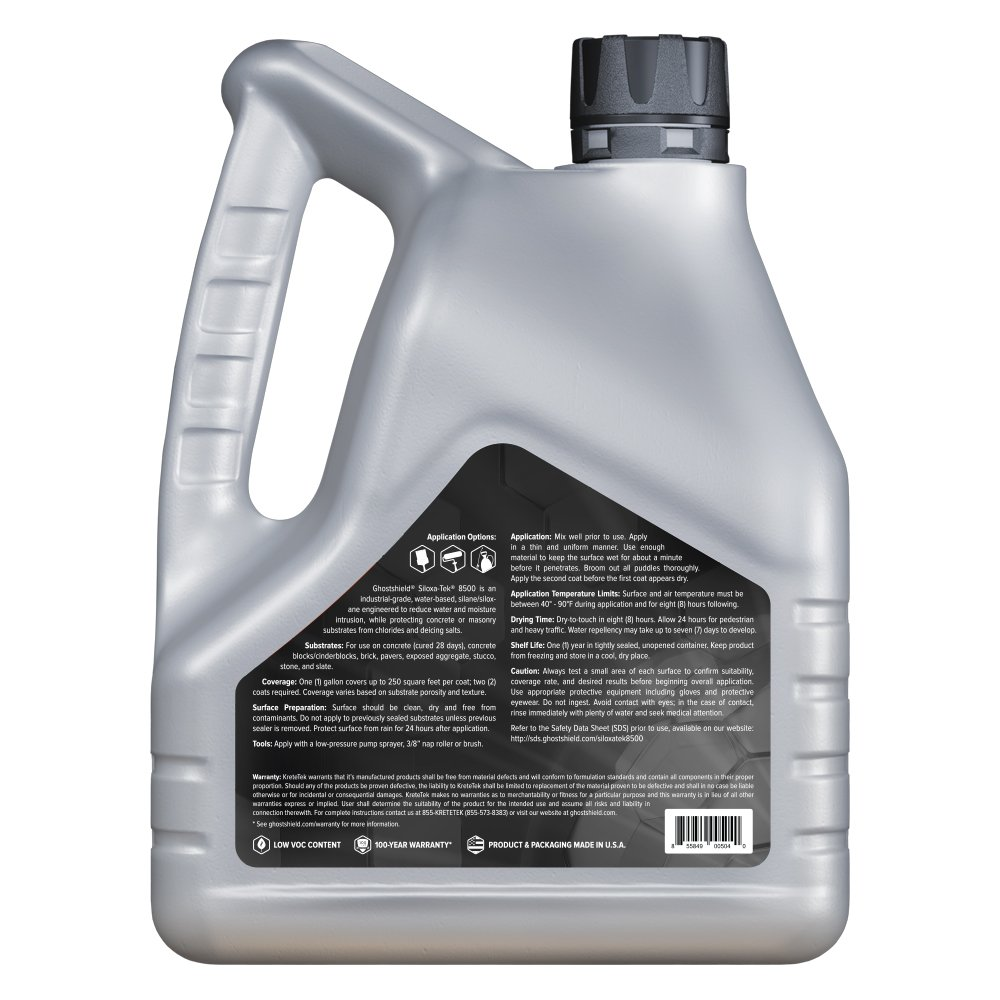 Siloxa-Tek 8500 - 1 Gallon Penetrating Concrete Sealer, Water and Salt Repellent by Ghostshield (Image #3)