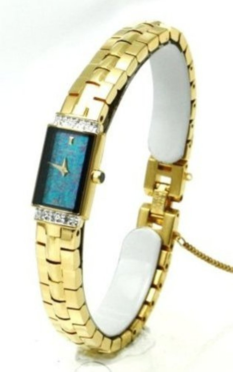 Seiko Lassale Watches Top of the line Diam. Sapphire Crystal and Safety Chain 22k Gold Finish made in Japan
