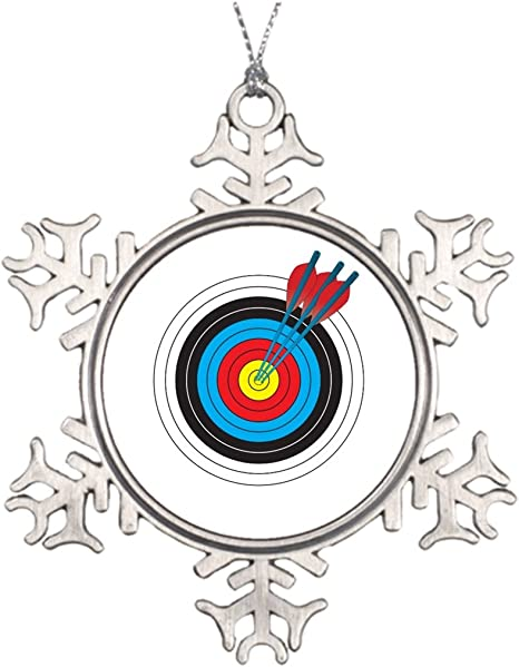 Amazon Com Alittle Ideas For Decorating Christmas Trees Archery Target With Arrows Snowflake Ornaments Christmas Home Kitchen