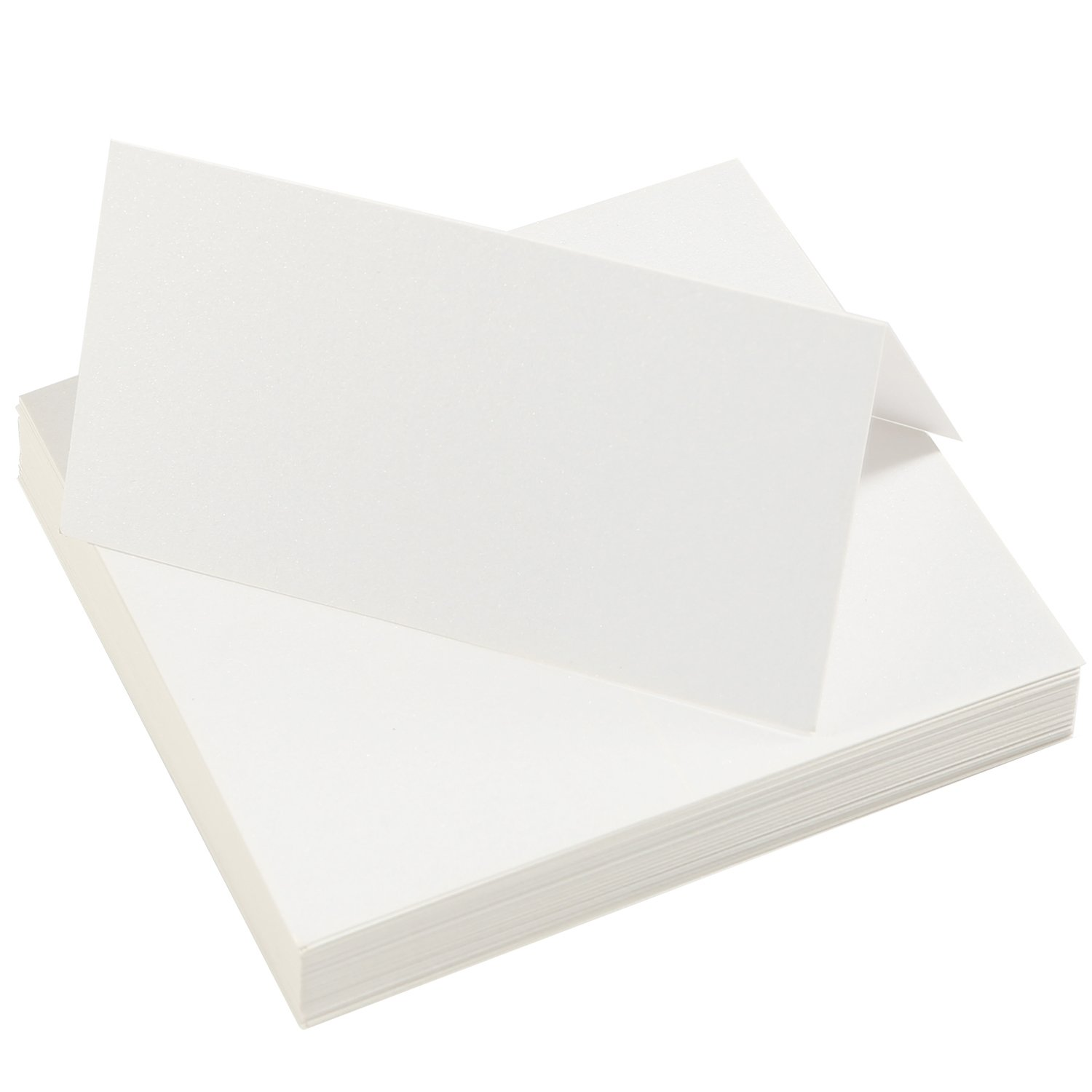 Aneco 60 Pieces White Blank Table Cards Name Place Cards for Wedding Party Decoration or Meeting Favor