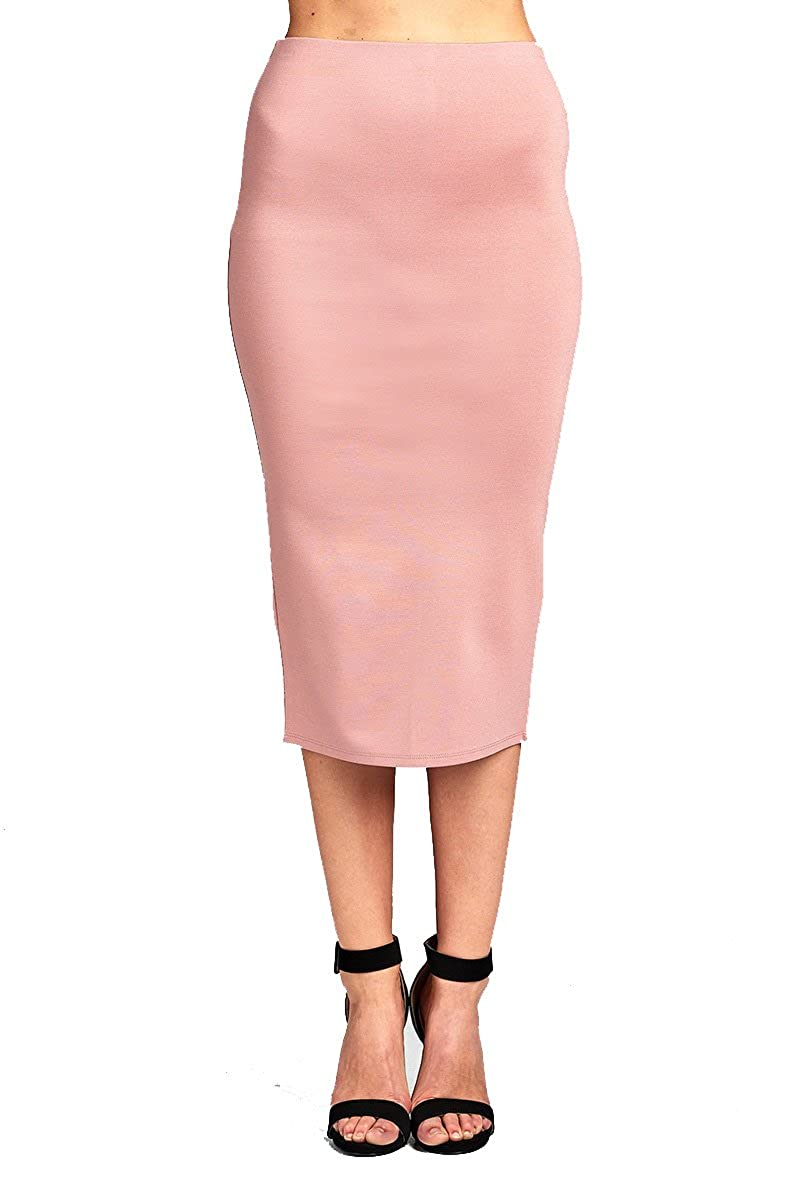 2729soft Mauve YourStyle Stretch Bodycon Mini Pencil Ponte Skirt
