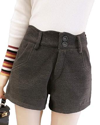 heiße neue Produkte harmonische Farben hübsch und bunt Runyue Damen Casual Herbst Winter Shorts Hohe Taille ...