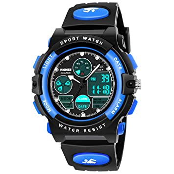 In Romantic 50m Water Resistant Men Watches Boy Outdoor Watch Chronograph Alarm Sports Wristwatch Boy Outdoor Watch Novel Design;