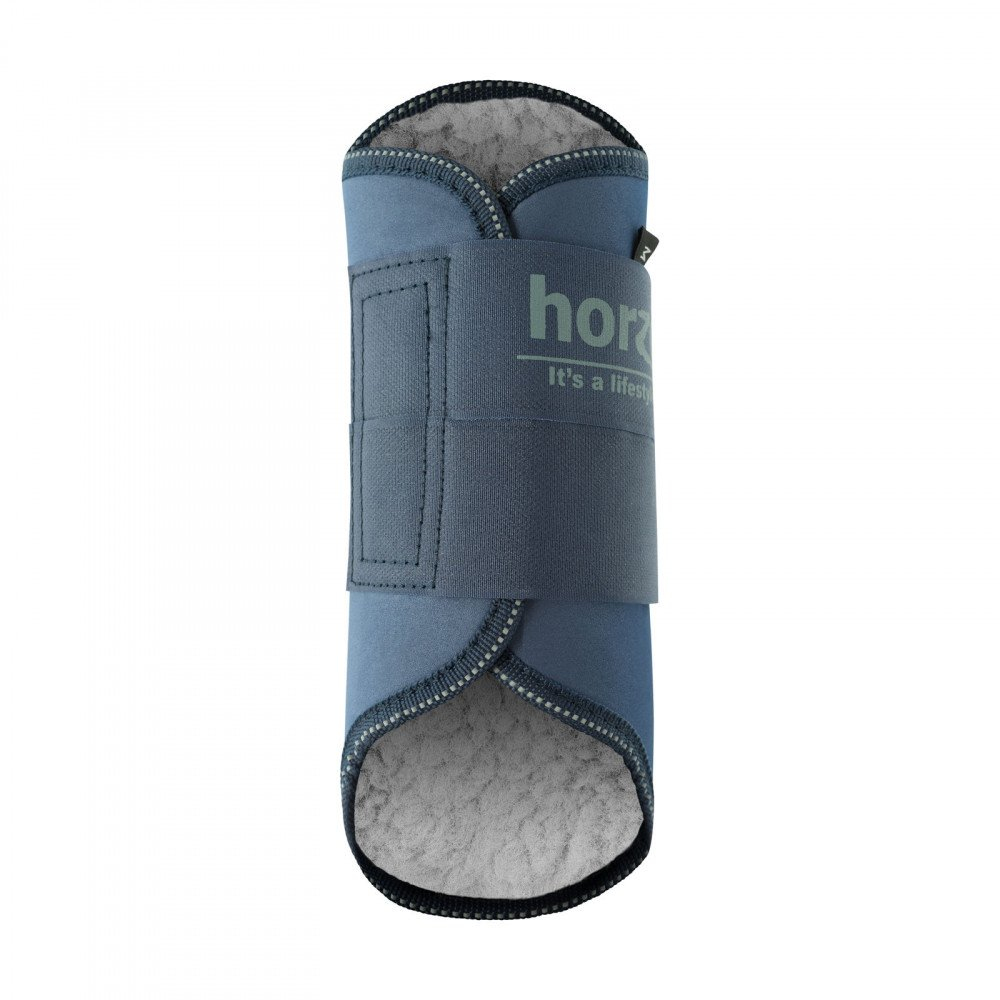 Large Faux-Fleece Lined Dark Blue Black Horze Pile-Lined Exercise Boots For Horses White Small Dark Brown Medium