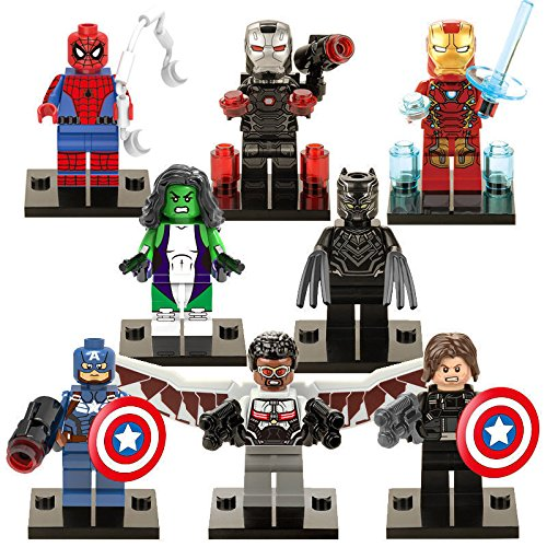 8 Sets MiniFigure Super Hero Avengers Building Toys (Hydra Marvel Legends compare prices)