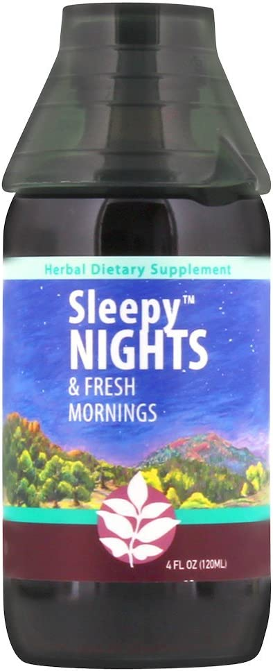 WishGarden Herbs Sleepy Nights - Herbal Sleep Aid Tincture, Organic Sleep Supplement Supports Healthy Sleep Cycles Naturally Without Melatonin, Fast Acting Liquid Dropper, 4 Ounce