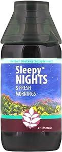 WishGarden Herbs Sleepy Nights - Herbal Sleep Aid Tincture, Organic Sleep Supplement Supports Healthy Sleep Cycles Naturally Without Melatonin, Fast Acting Liquid Dropper, 4 Ounce