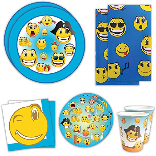 Emoji  Birthday Party Packs For 16