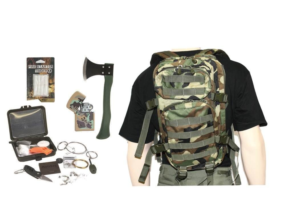 AOS-Outdoor Survival Set Trekking Outdoor Set 5 Teile woodland