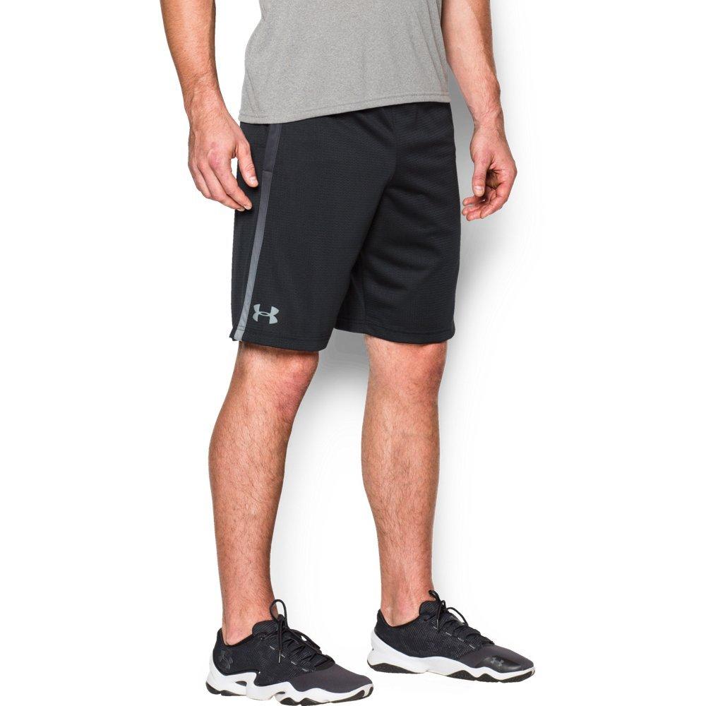 Under Armour Men's Tech Mesh Shorts, Black (003)/Steel, Large