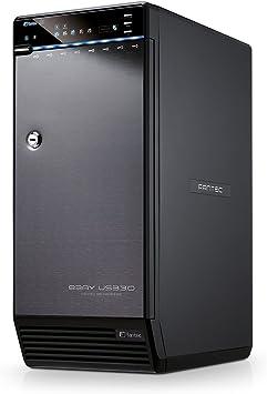 TALLA ohne HDD. Fantec QB-X8US3-6G - Carcasa externa para 8 discos duros de 8,9 cm (3.5 pulgadas). SATA I/II/III. con supervelocidad USB 3.0 y conexión eSATA, admite 6G, 2 ventiladores de 80mm, color negro