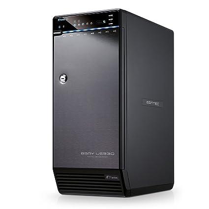 Fantec QB-X8US3-6G - Carcasa externa para 8 discos duros de 8,9 cm (3.5 pulgadas). SATA I/II/III. con supervelocidad USB 3.0 y conexión eSATA, admite ...