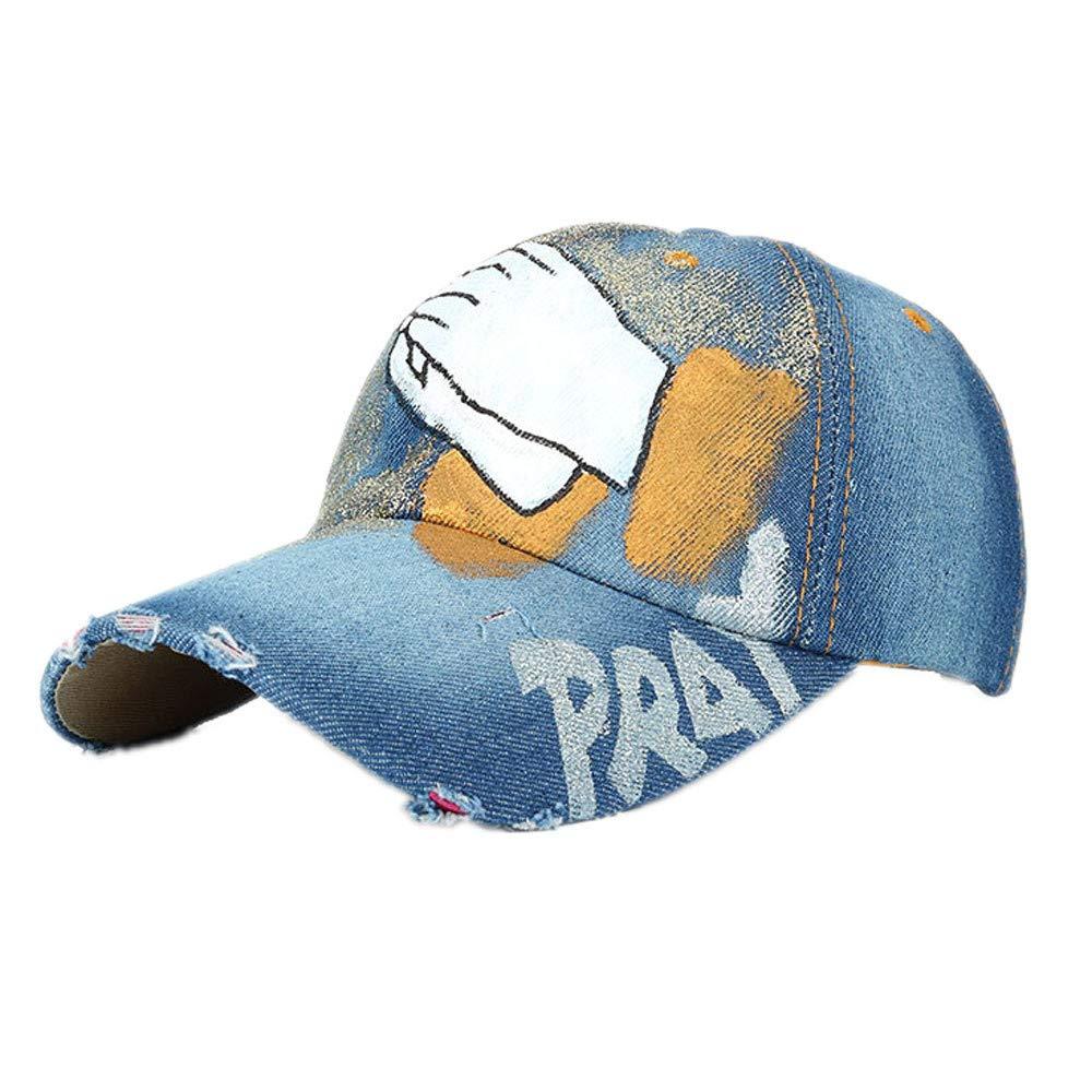 VEFSU - Gorra de béisbol para Mujer y Hombre Pintada a Mano con ...