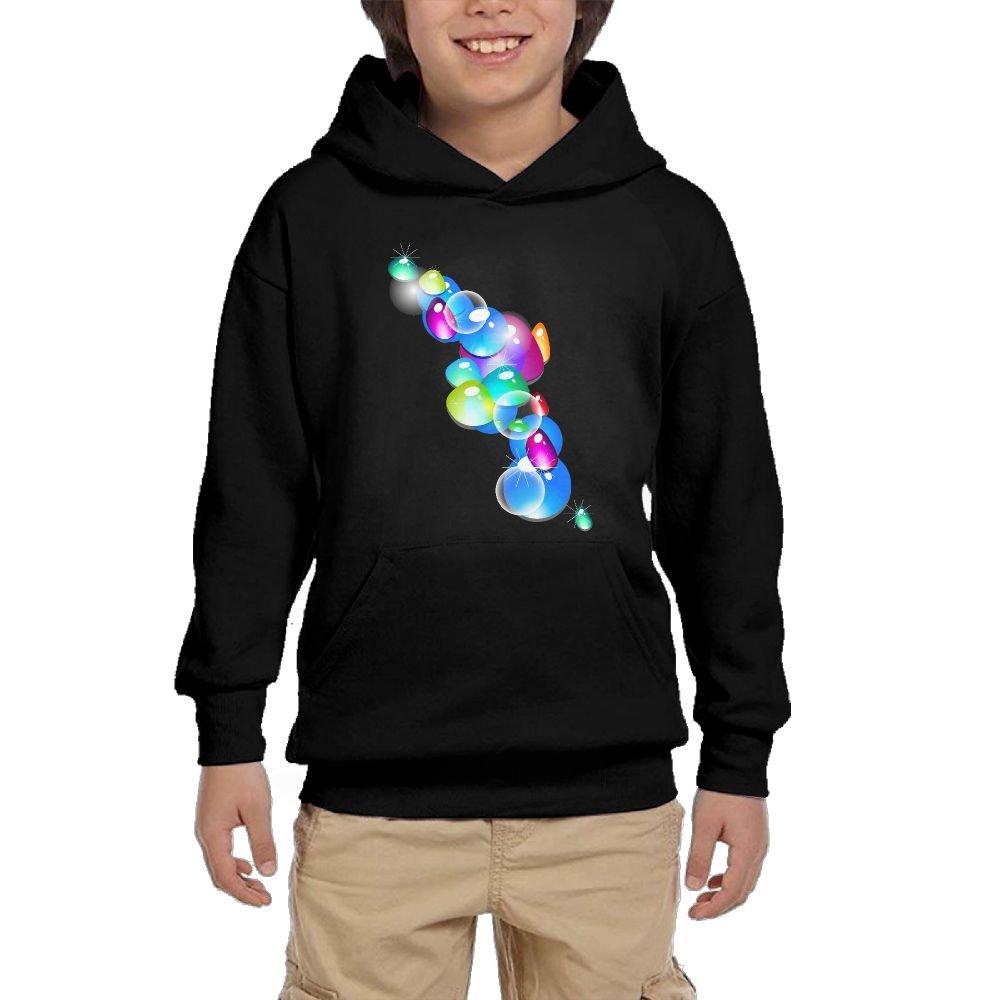 Quliuwuda Girl colorful Bubble Ball Funny Jogging Black Sweater