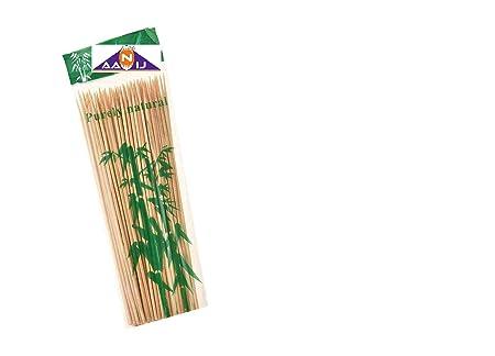 AANIJ(TM) Bamboo Skewer Stick BBQ Sticks 12 inch- 100 Nos