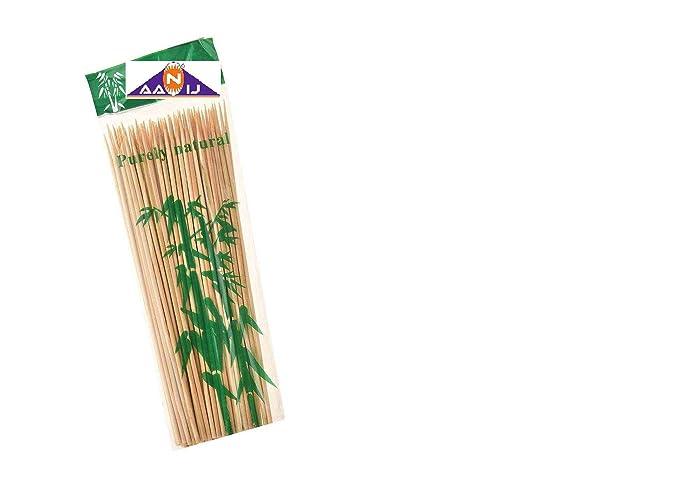 AANIJ(TM) Bamboo Skewer Stick BBQ Sticks 16 inch- 50 Nos
