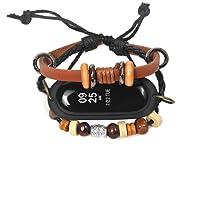 BBring Ersatzband Für Xiaomi Mi Band 3 Armband PU Leder Retro Weave Geflochtene Armband Strap