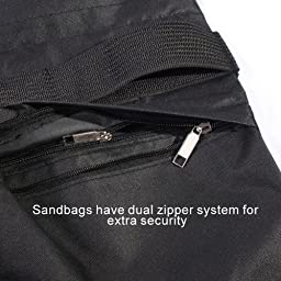 StudioFX SANDBAG Sand Bag SADDLEBAG Double Zipper Design 4 BAGS WEIGHT BAGS FOR PHOTO VIDEO STUDIO STAND by Kaezi