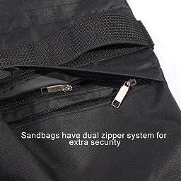 StudioFX SANDBAG Sand Bag SADDLEBAG Double Zipper Design 4 BAGS WEIGHT BAGS FOR PHOTO VIDEO STUDIO STAND by Kaezi