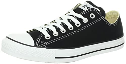 Image Unavailable. Image not available for. Color  Converse Unisex Chuck  Taylor All Star Ox Sneakers Black White M9166 cb96fdbafc