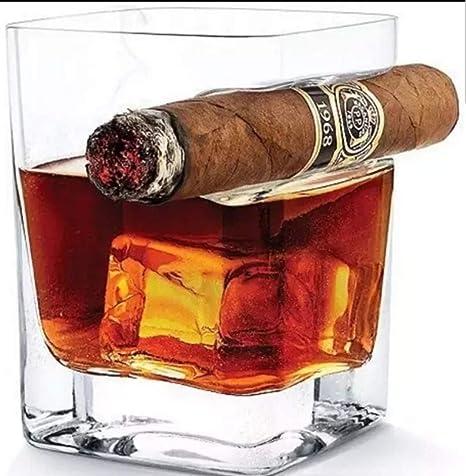 BarTata - Soporte de cristal para whisky y cigarros con ...
