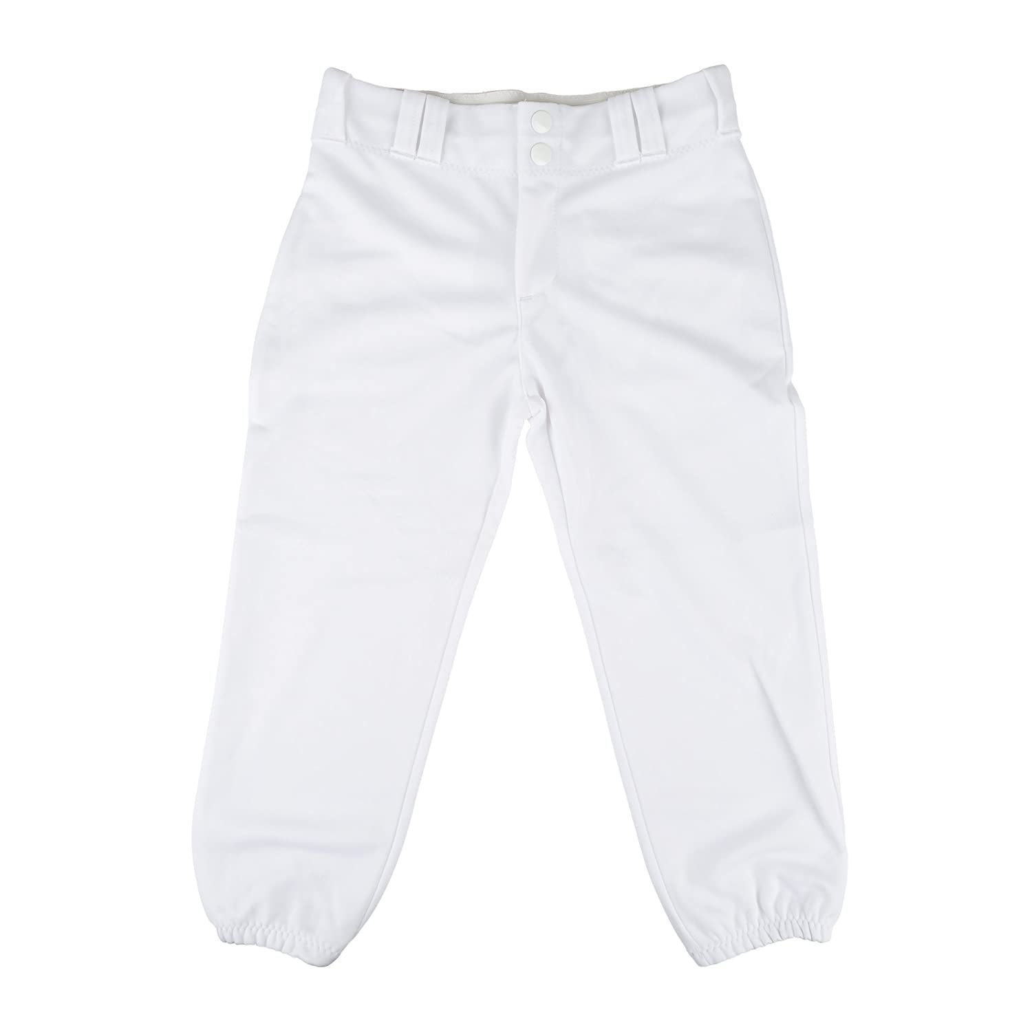 Alleson Athletic Women 's Softball Pants withベルトループ B00ID65SOQ M|ホワイト ホワイト M