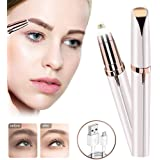 1 PCS Rose Gold Multifunction Eyebrow Trimmer Electric for Women Eyebrow Remover Painless Facial Brows Hair Removal…