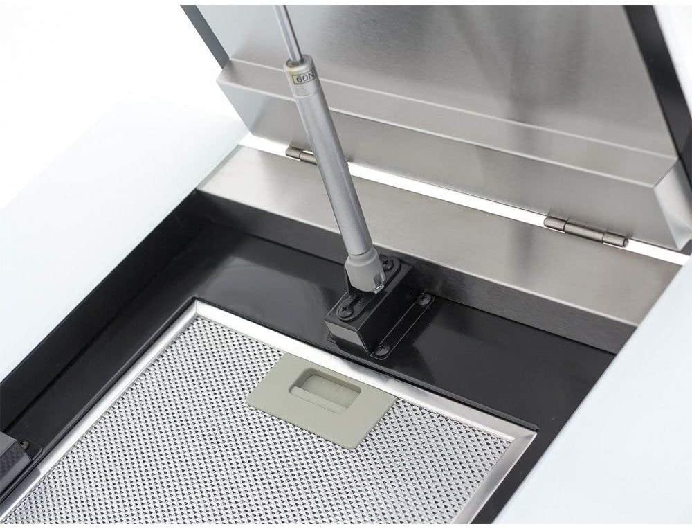 Kaiser - Campana extractora (80 cm, con control táctil de 3 niveles, 910m3/h, filtro de carbón activo, campana extractora y campana extractora): Amazon.es: Grandes electrodomésticos