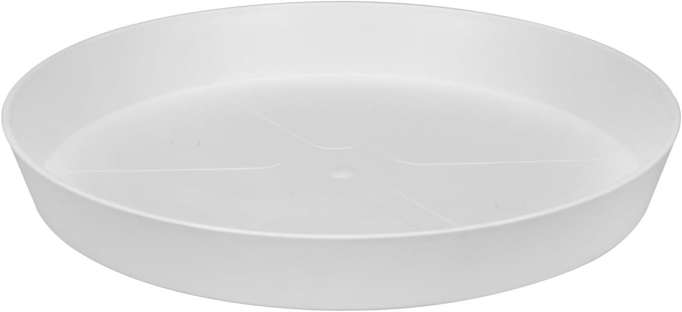 Elho Loft Urban Saucer Round Platillo, Blanco, 30.3x30.3x8.8000000000000007 cm