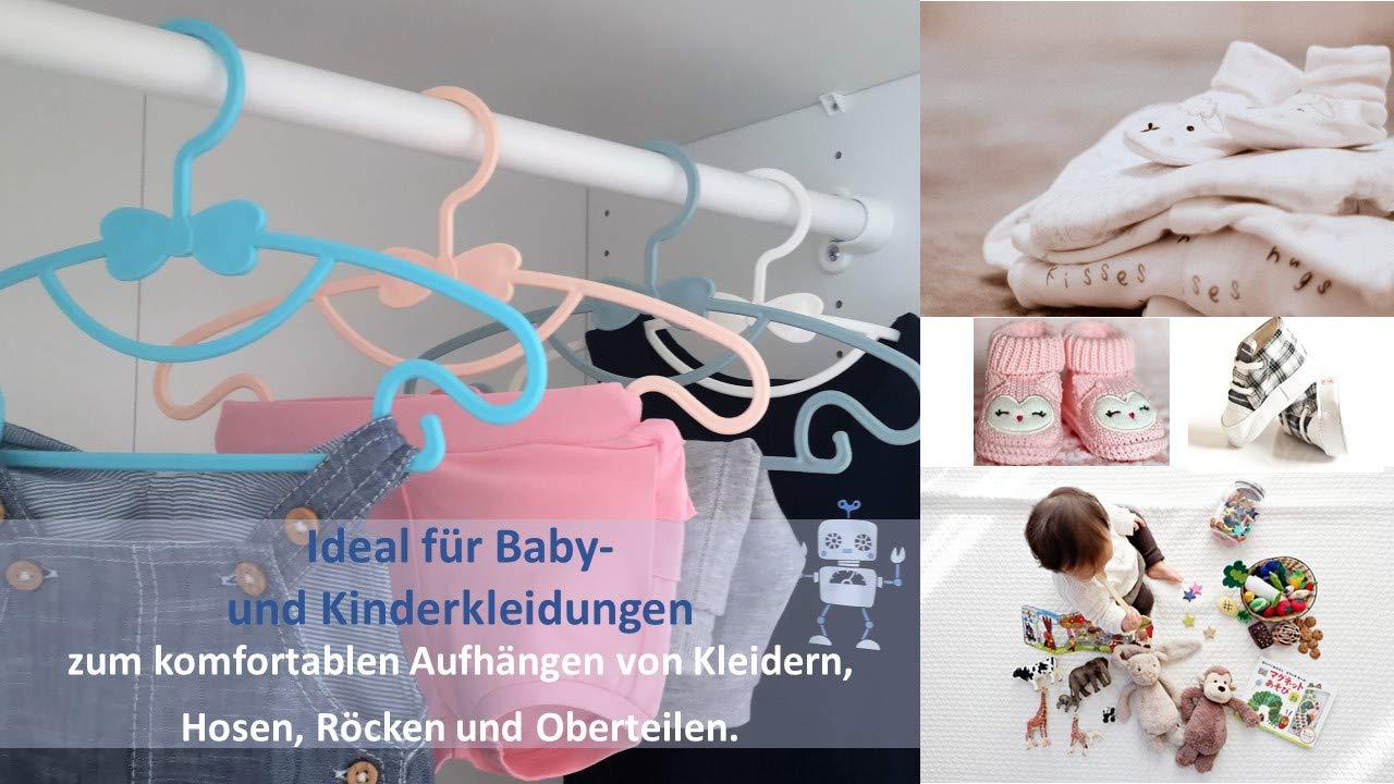 Baby Kinder Jungs M/ädchen Kleiderb/ügel Wei/ß PUNDUS Babykleiderb/ügel Kinderkleiderb/ügel 30er Set