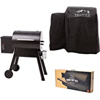 Traeger TFB29PLB Grills Bronson 20 Wood Pellet Grill and Smoker - Grill, Smoke, Bake, Roast, Braise, and BBQ (Black)
