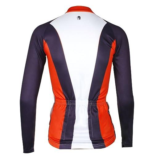 Amazon.com  ILPALADINO Women s Cycling Jersey Long Sleeve Biking Shirts  Black Red and White  Clothing 078646741