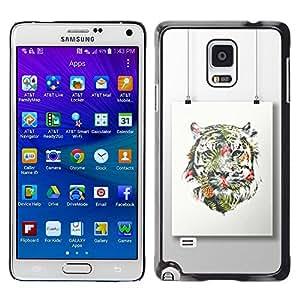 Be Good Phone Accessory // Dura Cáscara cubierta Protectora Caso Carcasa Funda de Protección para Samsung Galaxy Note 4 SM-N910 // Painting Colorful Art Drawing