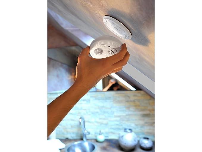 Juego de 2 detector térmico Detector de calor calor para baño y cocina, a partir de 57 °C, 85 Db: Amazon.es: Bricolaje y herramientas