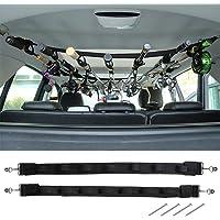 Dr.Fish Vehicle Fishing 7 Rod Reel Combos Holder Heavy Duty Car Rod Saver Metal Clamp Fishing Pole Rack Belt Strap…