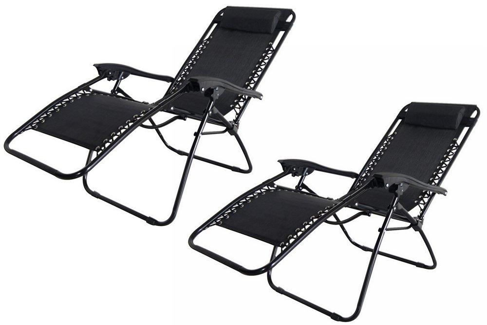 Amazon.com: 2 x sillas de Palm Springs Zero Gravity salón ...