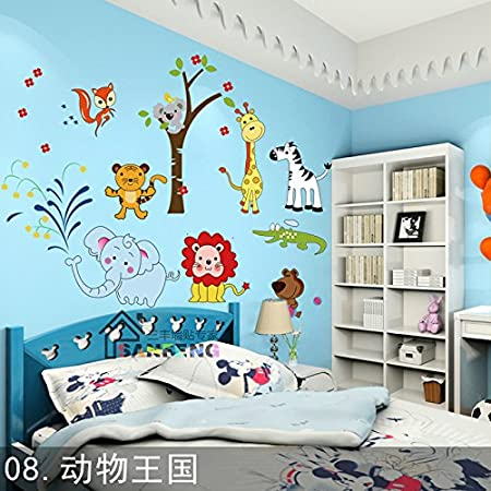 Childrens Room BoysBedroom Wall Decoration Wall Painting Kindergarten Classroom Cute Animal Cartoon Sticker,Little Red Riding Hood,large